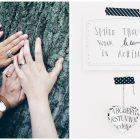 """Bilder von vier Händen (Oma, Töchter, Nichte) an einem Baum und von einem zeichnung mit der Aufschrift """"Smile though your heart is aching"""""""