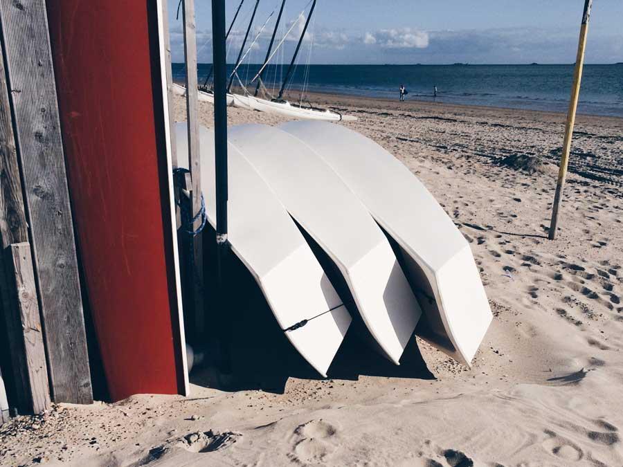 drei Boote gestapelt wie förmchen