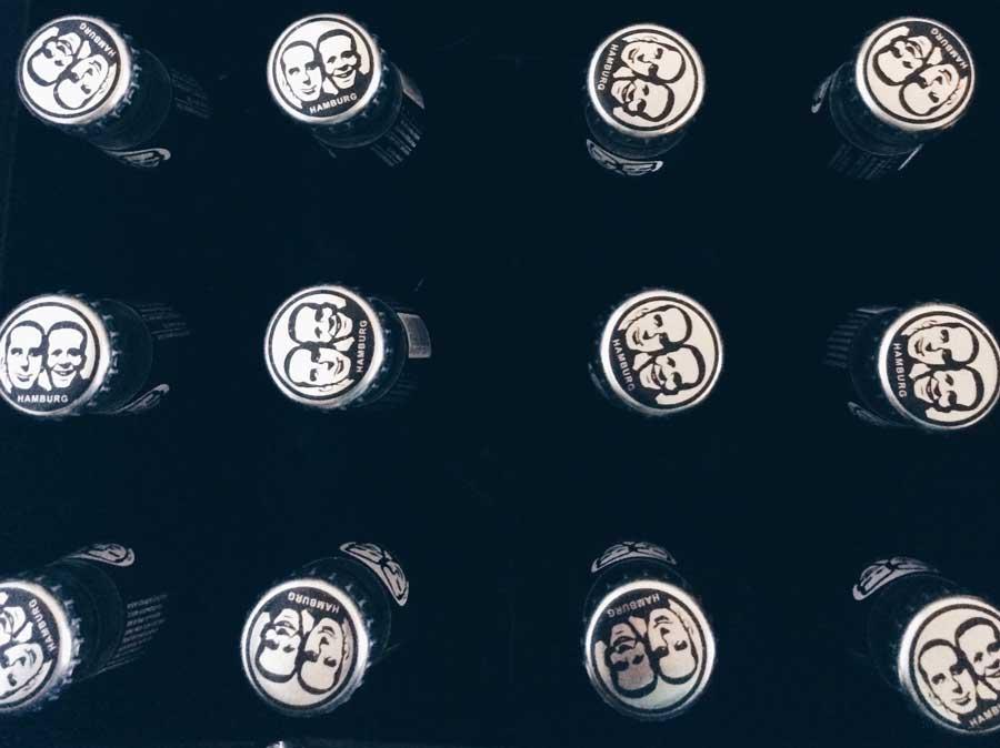 flaschen von fritz cola