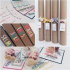 Geschenkverpackung und Grußkarten