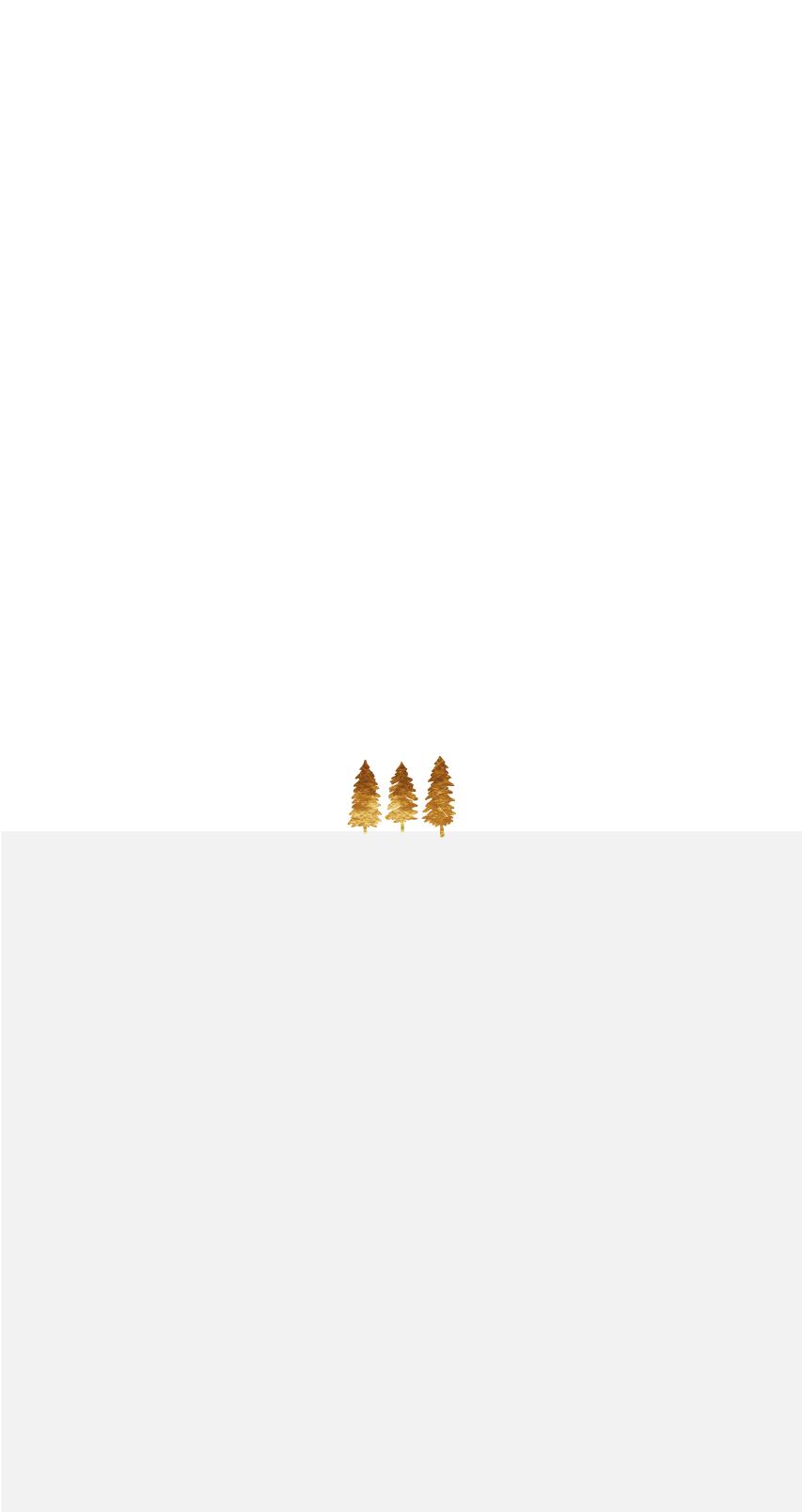 Drei Goldene Bäume auf einer grauen Fläche