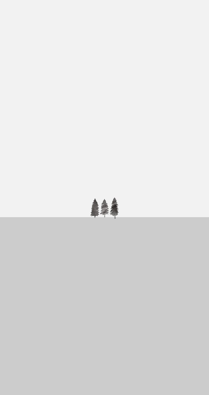 Drei graue Bäume auf einer grauen Fläche