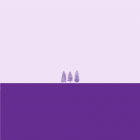 Drei lila Bäume auf einer lilanen Fläche