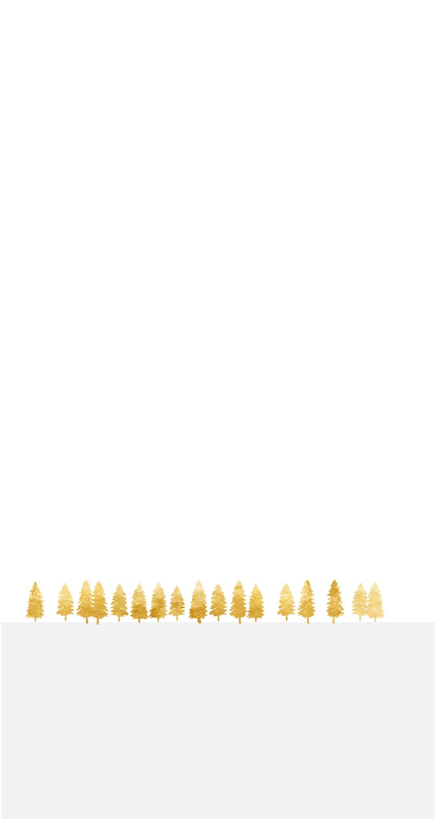 Goldene Bäume auf einem grauen Utergrund
