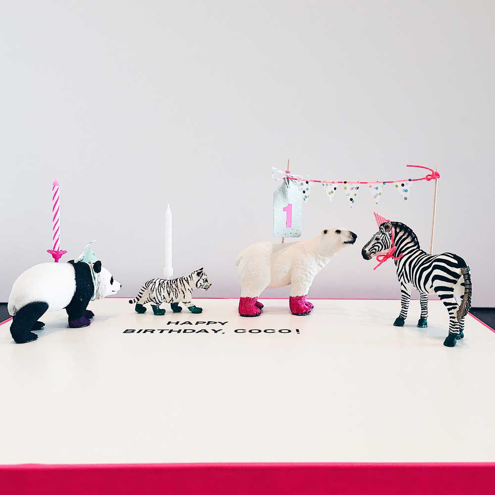 Birthday Parade oder Geburstagsparade mit Tieren