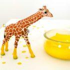 DIY mit Schleichtieren; Geburtstagsgeschenk für das Patenkind