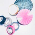 Materialien für die DIY Verpackungsidee einer Tape-Torte