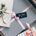Geschenkekisten mit Schleife