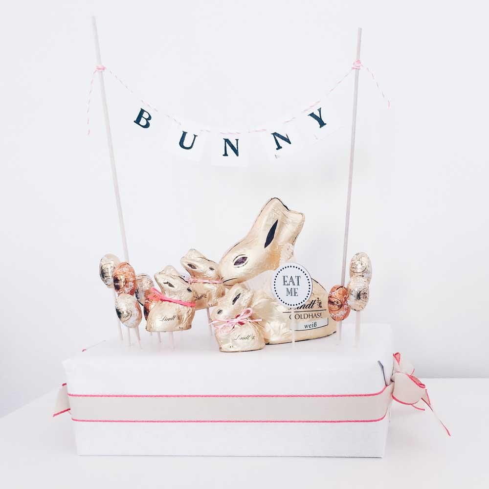 Eine Alternative zum klassischen Osternest: Das Happy-Bunny Hasennest von fairy likes...