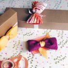 Bunte Stoffschleifen als DIY zur Geschenkverpackung
